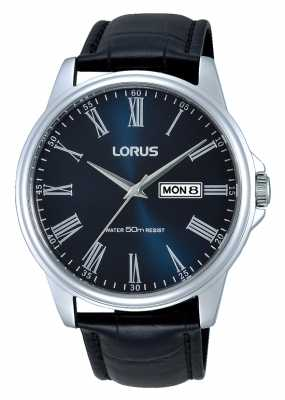 Lorus Mens Classic Dress Watch With Blue Dial RXN13DX9