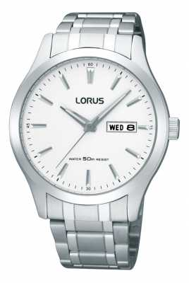 Lorus Mens Silver Toned Watch RXN39CX9