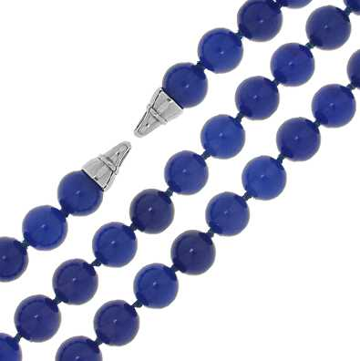 MY iMenso Blue Agate Necklace + Endcap (925/Rhod-Plated) 27-0515-42