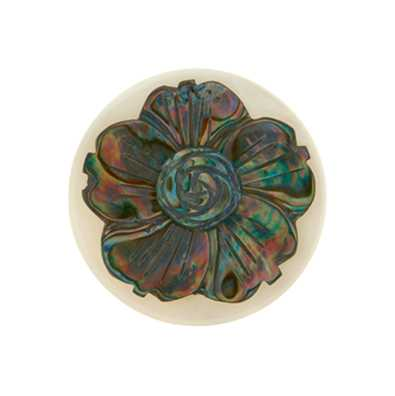 MY iMenso Abalone Flower 33mm Shell Insignia 33-0536