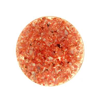 MY iMenso Red In Resin 33mm Crushed Shell Insignia 33-0554