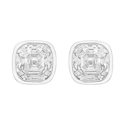 Perfection Swarovski Single Stone Rubover Imperial Mosaic Stud Earrings (2.00ct) E404 E4044-SK