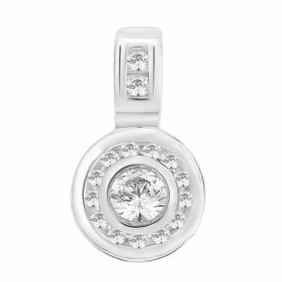 Perfection Diamond 9ct White Gold Multi-Stone Pendant (0.50ct G/H SI)  P3157-GHSI-9CT