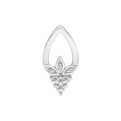 Perfection Diamond 18ct White Gold Fancy Pendant (0.10ct G/H SI)  P3292-GHSI-18CT