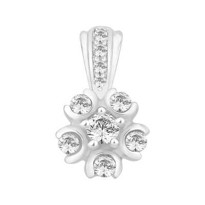 Perfection Swarovski Six Stone Cluster Pendant (0.50ct) P3663-SK