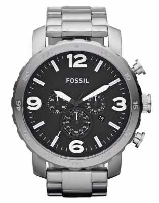 Fossil Mens X-Large Silver Chronograph JR1353