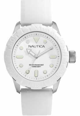 Nautica NSR100 Mens White Strap Analogue Watch A09603