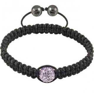 Tresor Paris Lilac Crystal Black Bracelet 016021