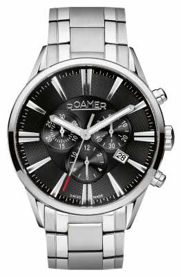 Roamer Mens Stainless Steel Chronograph Watch 508837415550
