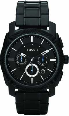 Fossil Mens Black Chronograph Bracelet Watch FS4552
