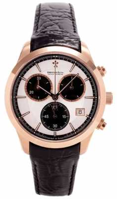 Dreyfuss Mens Rose Gold Chronograph Leather Strap DGS00063/06