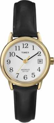 Timex Womens White Black Leather Strap  Watch T2H341