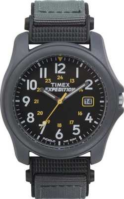 Timex Mens Expedition Black Face Nylon Strap  Watch T42571