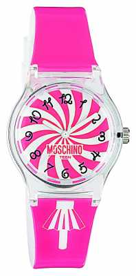 Moschino Womens Pink Strap Watch MW0321