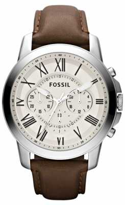 Fossil Mens Chronograph Leather Strap FS4735