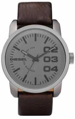 Diesel Mens Analogue Brown Leather Watch DZ1467