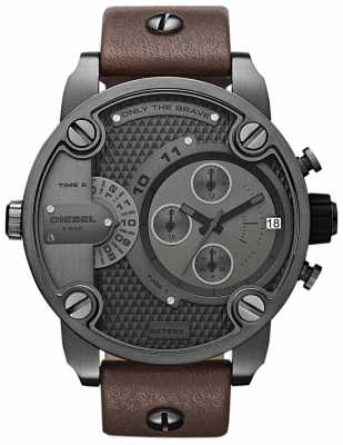 Diesel Mens Chronograph Brown Leather Strap DZ7258