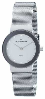Skagen Womens Circle Analogue Dial Silver Strap Watch 358SSSD