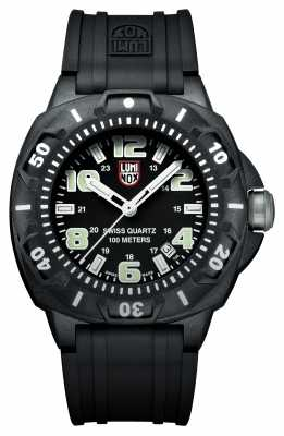 Luminox Sentry Mens Black Rubber Strap Watch XL.0201.SL