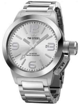 TW Steel Gent's Canteen 40 MM Silver Stainless Steel Bracelet Watch TW0304