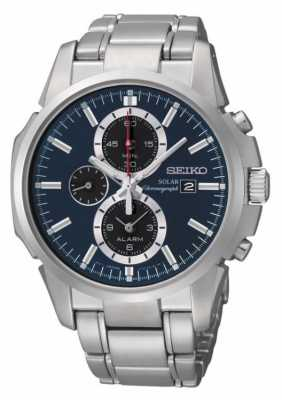 Seiko Mens Solar Chronograph Watch SSC085P1