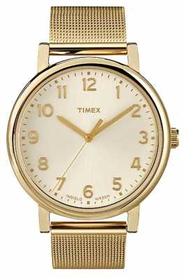 Timex Gent's Easy Reader Gold Tone Mesh Bracelet Watch T2N598