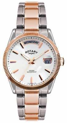 Rotary Gent's Two Tone Stainless Steel Bracelet  Havana Watch GB02662/06