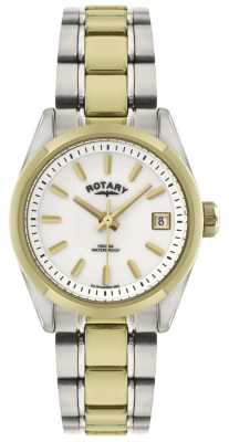 Rotary Womens' Havana Tone Stainless Steel Bracelet Watch LB02661/11