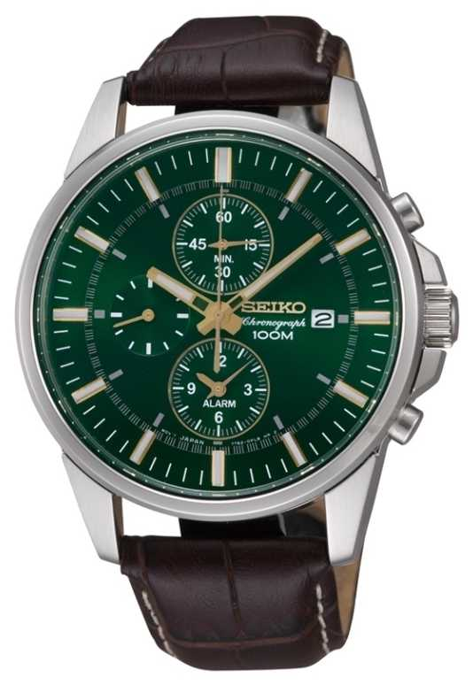 seiko mens stainless steel green dial watch snaf09p1 seiko snaf09p1