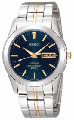 Seiko Midnight Blue Dial Gold Detail Stainless Steel SGGA61P1