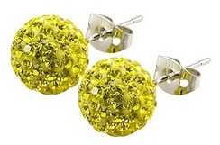 Tresor Paris Clecy Yellow Crystal (10mm) 016069