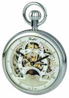 Woodford Chrome Skeleton Dial Dual Time Zone Pocket Watch 1050