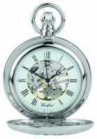 Woodford Stainless Steel Half hunter Flower-Desgign Pocket Watch 1052