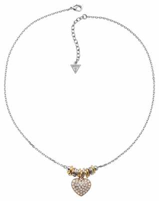 Guess Womens Sweetly Stacked Stainless Steel Necklace UBN11316