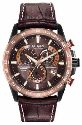 Citizen Mens Perpetual Chronograph A-T Brown & Black AT4006-06X