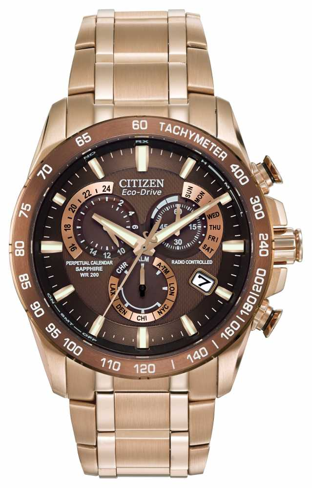 citizen mens perpetual chronograph watch at4106 52x citizen at4106 52x