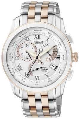 Citizen Mens Two-Tone 8700 Calibre Perpetual Calendar Watch BL8106-53A