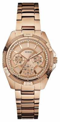 Guess Womens'  mini Phantom Rose-Gold Watch W0235L3