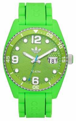 adidas Originals Unisex Brisbane Lime-Green Branded Rubber Strap Watch ADH6156
