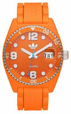 adidas Originals Unisex Brisbane Orange Branded Rubber Strap Watch ADH6157