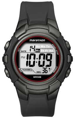 Timex Mens Black Marathon Sport Digital Watch T5K642