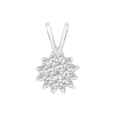 Perfection Diamond 18ct White Gold Classic Round Cluster Pendant (0.25ct J I1)  P0038-JI1-18CT