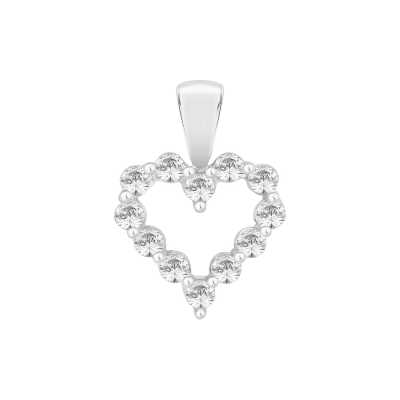 Perfection Swarovski Claw Set Heart Pendant (0.25ct) P3703-SK