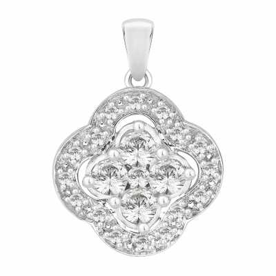 Perfection Swarovski Art Deco Clover Pendant (0.45ct) P4096-SK