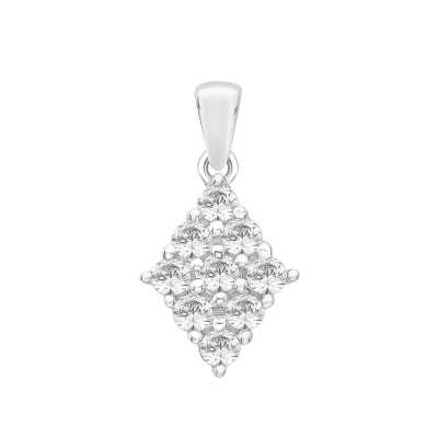 Perfection Diamond Platinum Diamond Shaped Cluster Pendant (0.40ct G/H SI)  P5132-GHSI-PLT