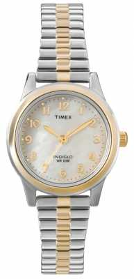 Timex Ladies Two Tone Dress Expander Watch T2M828