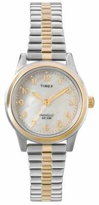 Timex Ladies Two Tone Dress Expander Watch T2M828