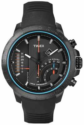 Timex Intelligent Quartz Mens Black Linear Watch T2P272