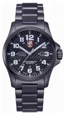 Luminox Mens Black Ion-Plated Steel Carbon-Fiber Effect Watch XL.1922