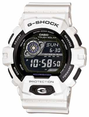 Casio Mens White Resin Solar Powered Watch GR-8900A-7ER